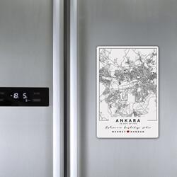 - Seni Tanıdığım Şehir Haritalı Buzdolabı Magneti