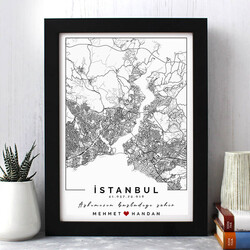- Seni Tanıdığım Şehir Haritalı Çerçeve