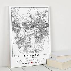 - Seni Tanıdığım Şehir Haritalı Kanvas Tablo