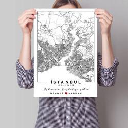 - Seni Tanıdığım Şehir Haritalı Poster