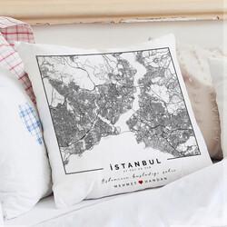 - Seni Tanıdığım Şehir Haritalı Yastık