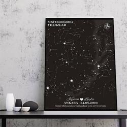- Seni Tanıdığımda Yıldızlar Kanvas Tablo