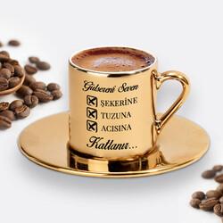 - Seven Katlanır Gold Kahve Fincanı