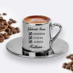 - Seven Katlanır Silver Kahve Fincanı