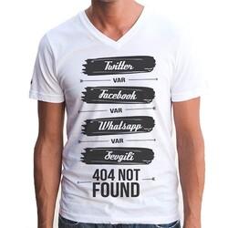 - Sevgili Bulunamadı Sosyal Medya Tişört