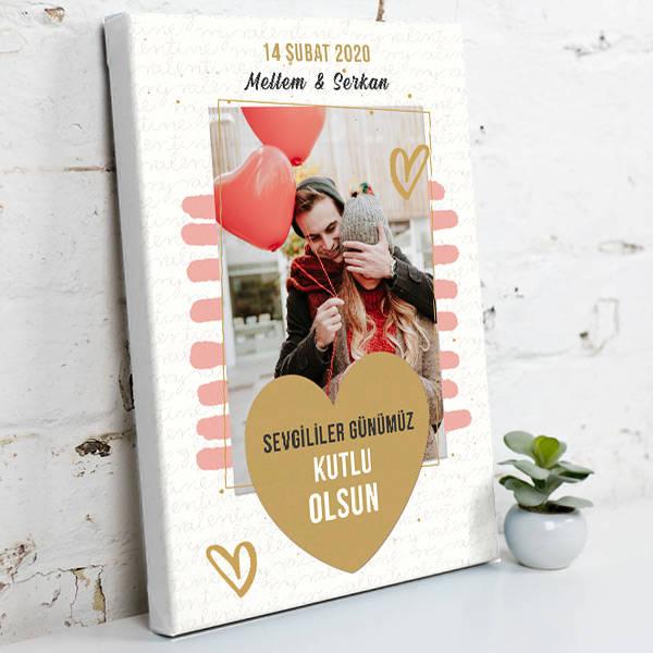 Sevgililer Günü Hediyesi Kanvas Tablo
