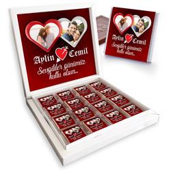 - Sevgililere Özel 2 Fotoğraflı Çikolata Kutusu
