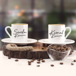 - Sevgililere Özel İkili Kahve Fincanı