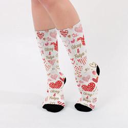 - Sevgililere Özel İsimli Çorap