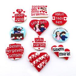 Sevgililere Özel Mesajlı Butik Kurabiyeler - Thumbnail