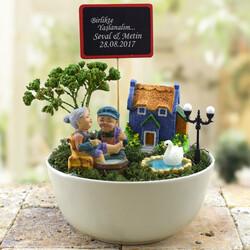 - Sevgililere Özel Mesajlı Minyatür Bahçe