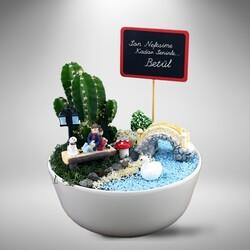 - Sevgililere Özel Minyatür Mini Bahçe