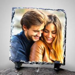 - Sevgililere Özel Yağlı Boya Efektli Taş Baskı