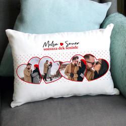 - Sevgiliye Hediye 4 Fotoğraflı Romantik Yastık