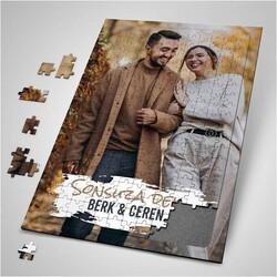 - Sevgiliye Hediye Fotoğraf Baskılı Puzzle