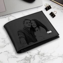 - Sevgiliye Hediye Fotoğraflı Siyah Cüzdan