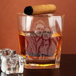 - Sevgiliye Hediye Fotoğraflı Viski Bardağı