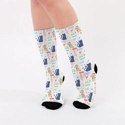 - Sevimli Dostlarımız Desenli Çorap