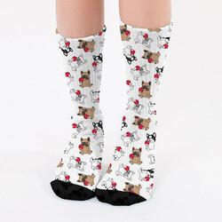 - Sevimli Dostlarımız Köpekler Tasarım Çorap