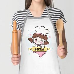 - Sevimli Kız İsme Özel Mutfak Önlüğü