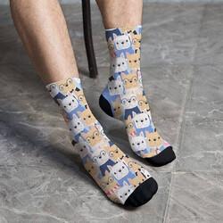 - Sevimli Köpek Dostlarımız Tasarım Çorap