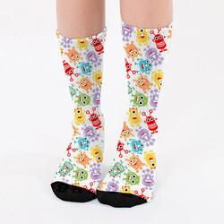 - Sevimli Uzaylılar Tasarım Kadın Çorabı