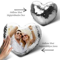 - Sihirli Yastık Kalp Tasarımlı Gümüş