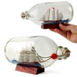- Şişe İçinde Dekoratif Gemi Maketi
