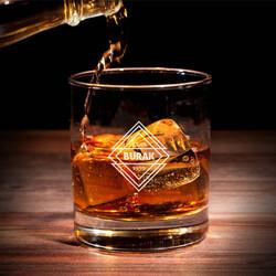 - Size Özel İsim ve Tarihli Viski Bardağı
