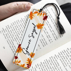 - Sonbahar Yaprakları İsimli Kitap Ayracı