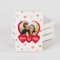 - Sonsuz Aşkım Fotoğraflı Taş Buzdolabı Magneti