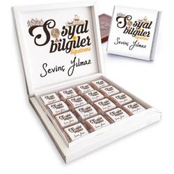 - Sosyal Bilgiler Öğretmenine Hediye Çikolata Kutusu