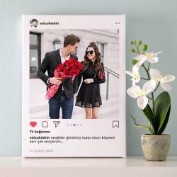- Sosyal Medya Tasarımlı Kanvas Tablo