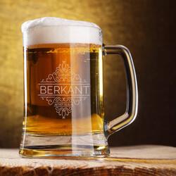 - Tarihli ve İsimli Tasarım Bira Bardağı
