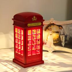 - Telefon Kulübesi Dokunmatik Gece Lambası