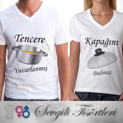 - Tencere ve Kapak Sevgili Tişörtleri