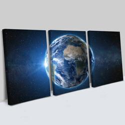 - The World 3 Parça Kanvas Tablo