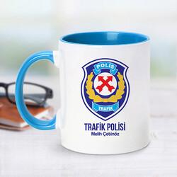 - Trafik Polisi İçin Mavi Kupa Bardak