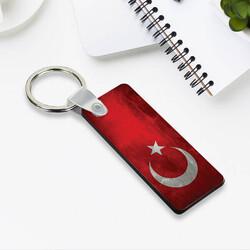 - Türk Bayrağı Tasarımlı Dikey Anahtarlık
