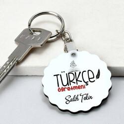 - Türkçe Öğretmenine Hediye Papatya Anahtarlık