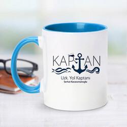 - Uzak Yol Gemi Kaptanı İçin Mavi Kupa Bardak
