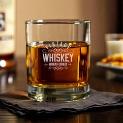 - Vintage Erkeğe Hediye İsimli Viski Bardağı