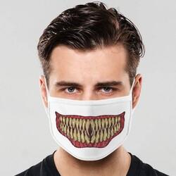 - Yaratık Dişleri Tasarımlı Ağız Maskesi