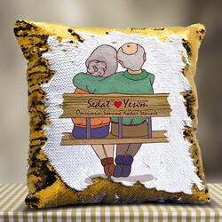 - Yaşlı Çiftler Tasarımlı Sihirli Yastık