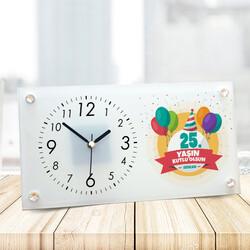 - Yeni Yaşın Kutlu Olsun Cam Masa Saati