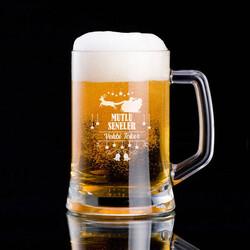 - Yeni Yıl Mesajlı Tasarım Bira Bardağı