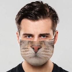 - Yıkanabilir Kedi Tasarımlı Ağız Maskesi