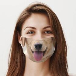 - Yıkanabilir Köpek Tasarımlı Ağız Maskesi
