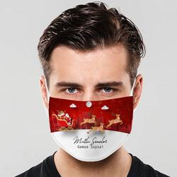- Yılbaşı Tasarımlı Yıkanabilir Maske