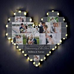 - Yıldönümü Hediyesi Işıklı Kalp Pano